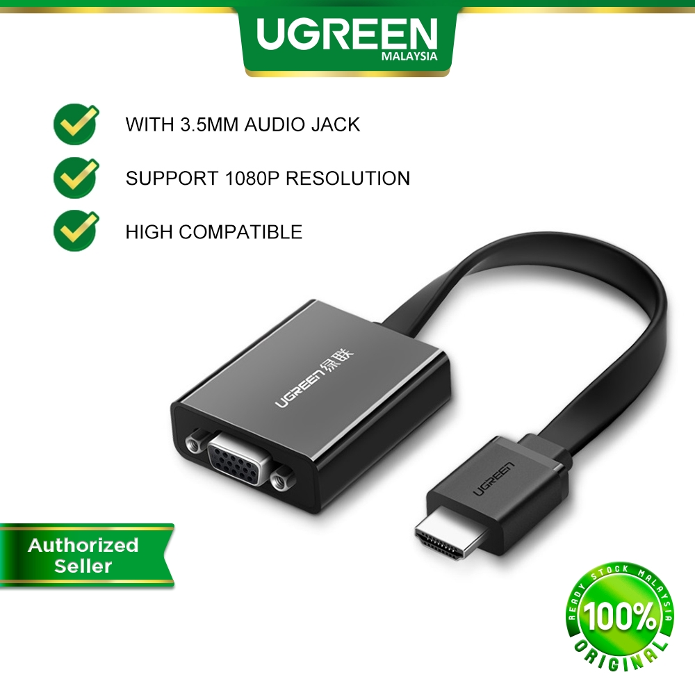 UGREEN HDMI to VGA Adapter With 3.5mm Audio Jack Digital to Analog Video Audio Converter Xbox360 PS4 PC Laptop TV Box