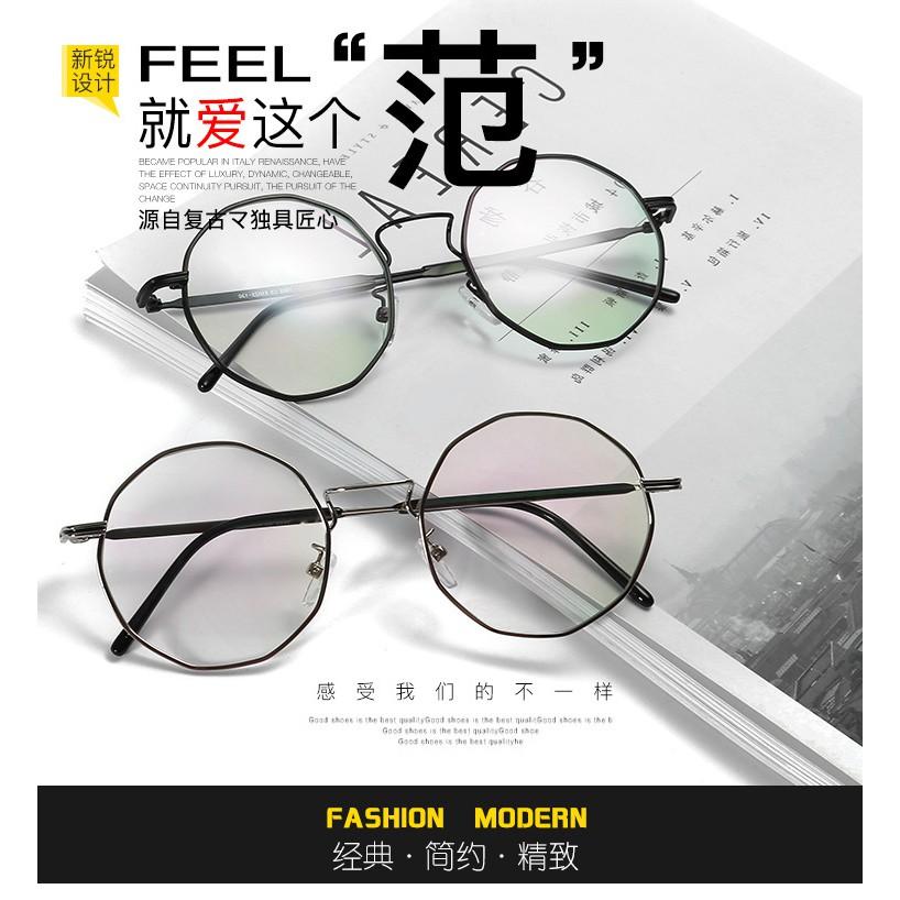 a0126ad11ed cermin mata spectacles stainless steel glasses frame metal retro round  myopic