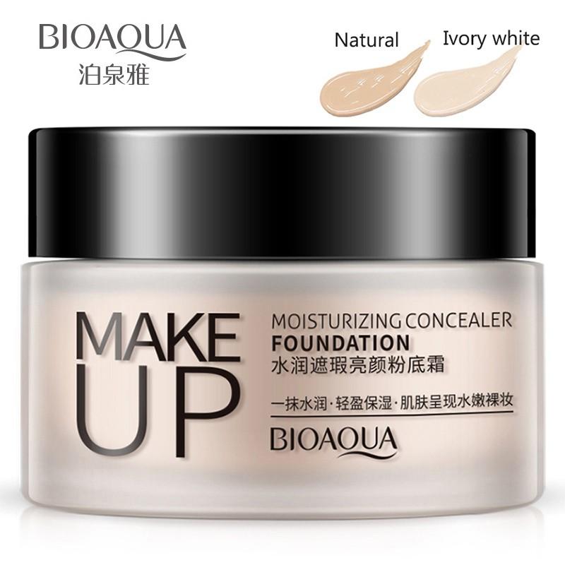 BIOAQUA Natural Nude Face Makeup Base Liquid Foundation Concealer CC Cream 40g | Shopee Malaysia
