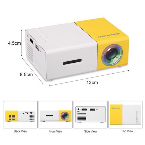 YG-300 Home Mini LED Projector - 400~600 Lumens