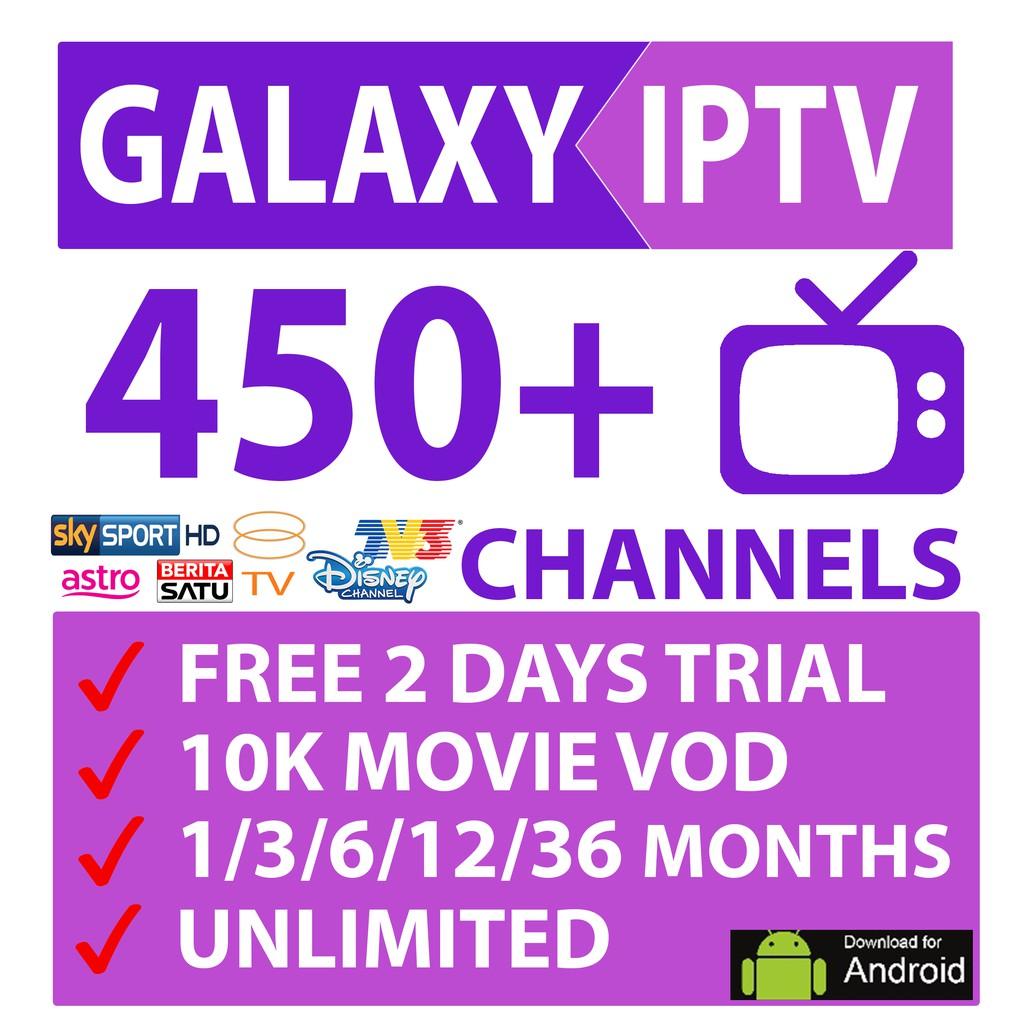 Galaxy IPTV Box Asia - 450++ Worldwide Channels 4K UHD Lifetime Channel  Support 8000++ Movie Vod