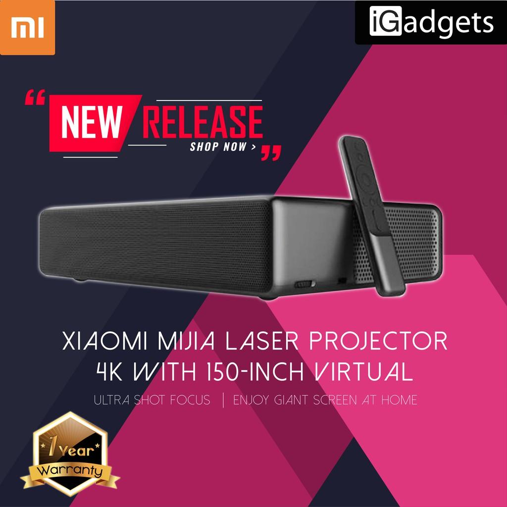 PRE-ORDER: Xiaomi Mijia Laser Projector 4K With 150-Inch Virtual [1 Year  Warranty]