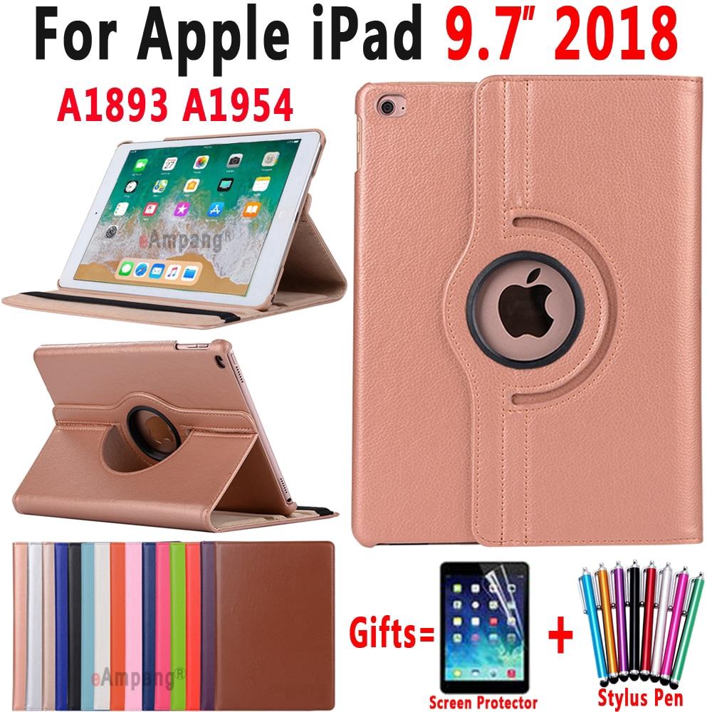 Apple iPad 9.7 2018 6 6th Generation Case 360 Degree Rotating Leather Smart Sleep Auto Awake Cover