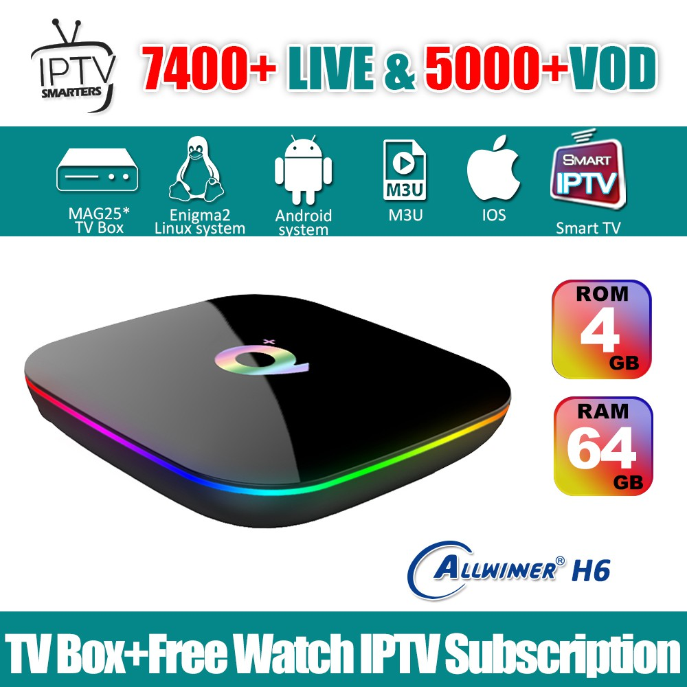 Q Plus TV Box Android 8 1 4GB 64GB & 1 Year IPTV Smarters Subscription  Astro Sports Channel
