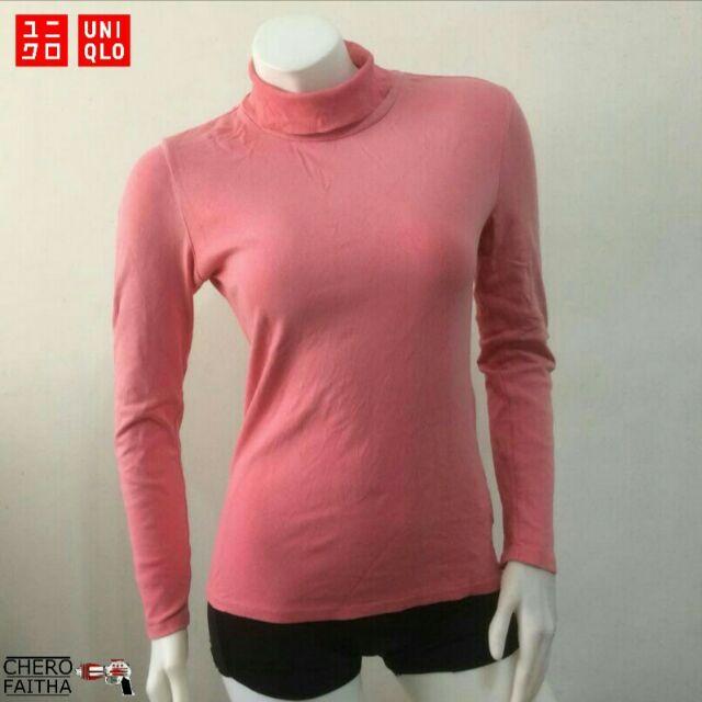 Baju Uniqlo original 3 4 sleeve t shirt female  a3edb2b24c