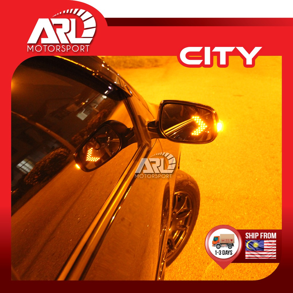 Honda City(2008-2013) GM2/ GM3 Blue Mirror with LED Signal Lamp Side Mirror Car Auto Acccessories ARL Motorsport