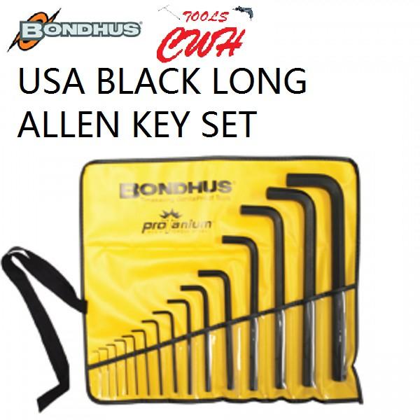 MM AF BONDHUS USA BLACK HEX ALLEN KEY HEXAGON DRIVER VINYL POUCH SET CWH TOOLS