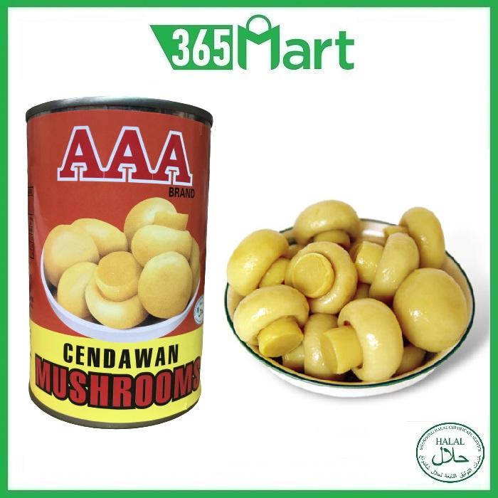 AAA BRAND Button Mushroom Whole 425g HALAL by 365mart 365 Mart