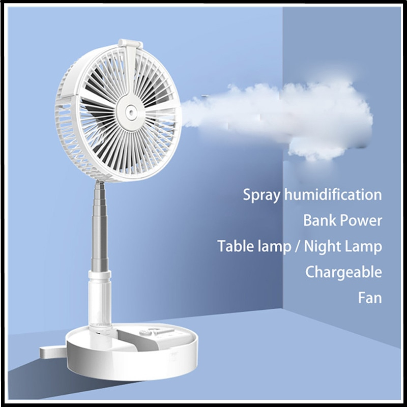 Mini Handheld Fan Electric Fan Outdoor Moisturizing Mini USB Charging Portable Humidifying Spray Small Fan Summer Cooling Fan for Student Dormitory Travel Office Room Outdoor Household