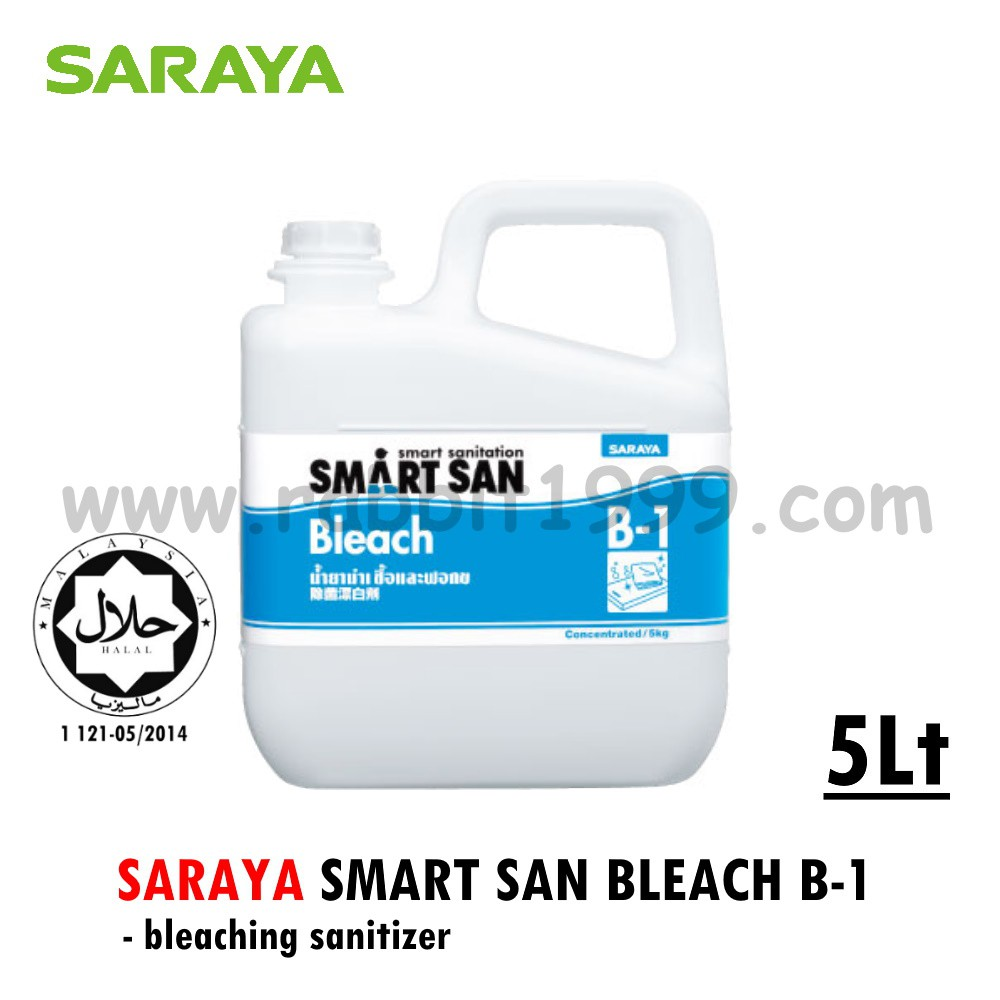 SARAYA SMART SAN BLEACH B-1- 5lt- bleaching sanitizer