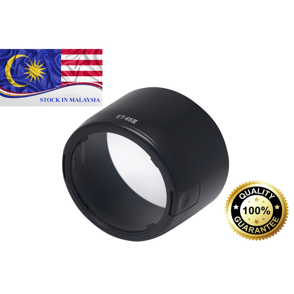 ET-65III Lens Hood For Canon EF 85 f/1.8 USM, 100 f/2.0 USM, 135 f/2.8 (Ready Stock In Malaysia)