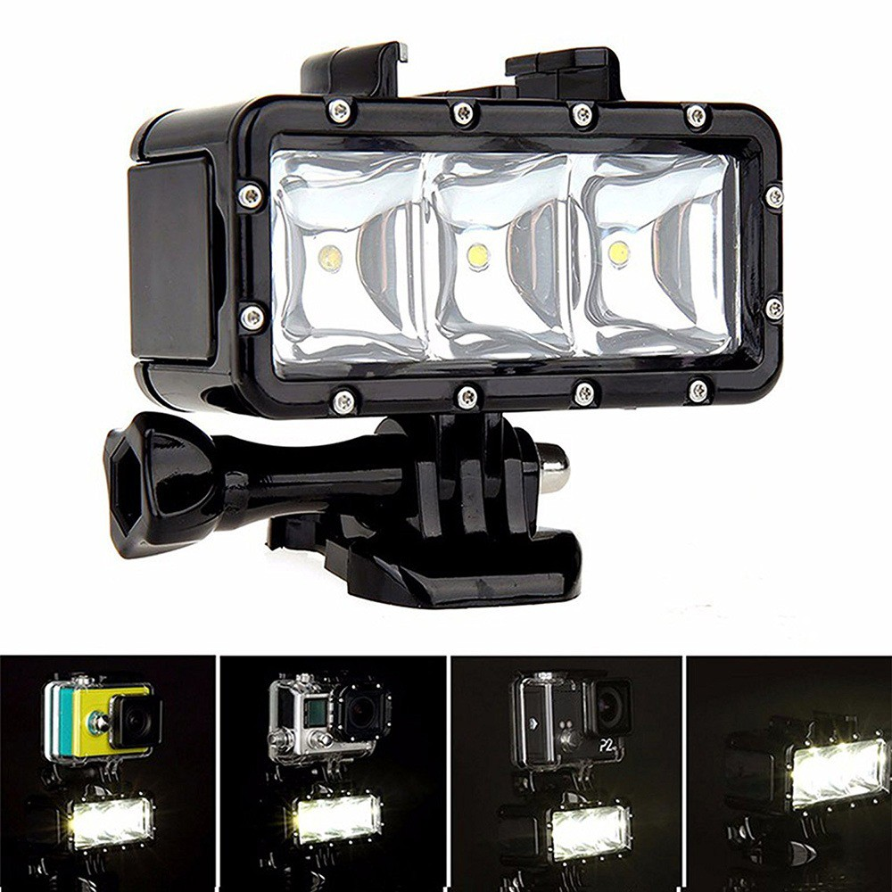Waterproof Diving Light LED Video Night Light Rechargeable 1200mAh