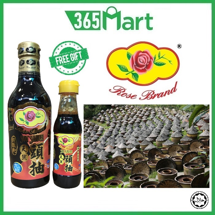 ROSE BRAND Premium Soy Sauce 500ml (+Free Gift 150ml) HALAL (6 Months Fermentation) by 365mart 365 Mart