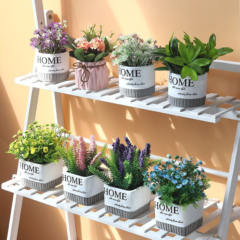 Living Room Simulation Green Plants And Green Plants Table Decoration Artificial Flowers Home Decoration Ornaments Shopee Malaysia