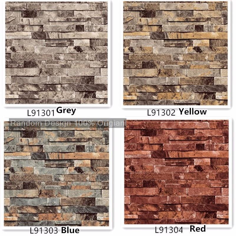 Fashion 3d Vinyl Brick Wallpaper On Brick Wall Sticker Wall Art Wall Decal