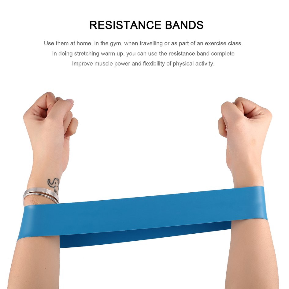 Elastic Resistance Bands 4 Level Exercise Loop Bands Gym Fitness Training  Yoga