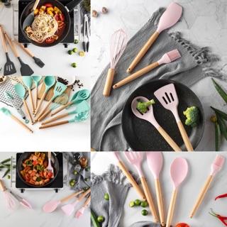Silicone Kitchen Utensil Set Set Senduk Viral 12pcs