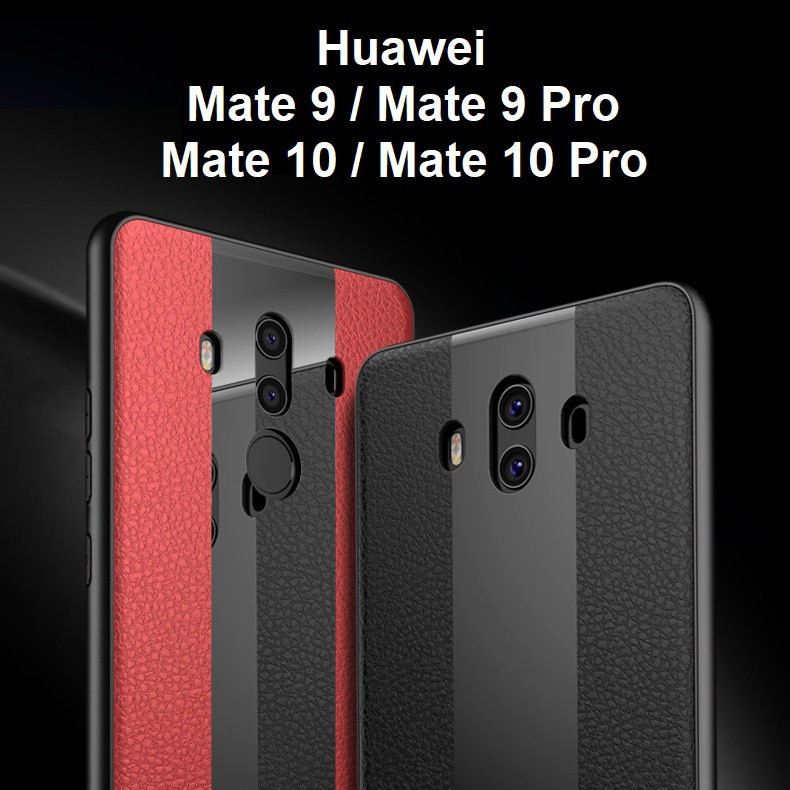 Huawei Mate 10 Pro Mate 9 Pro Racing Design Leather Phone Case Casing Cover