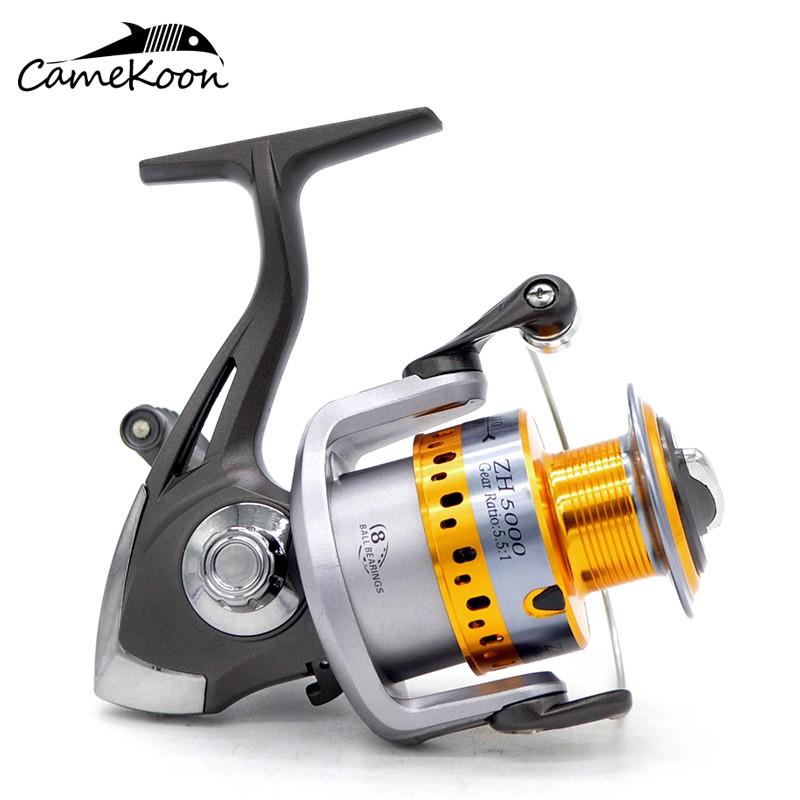 CAMEKOON Freshwater Carp Fishing Reel 5.2:1 Gear Ratio Light Wight Spinning Reel