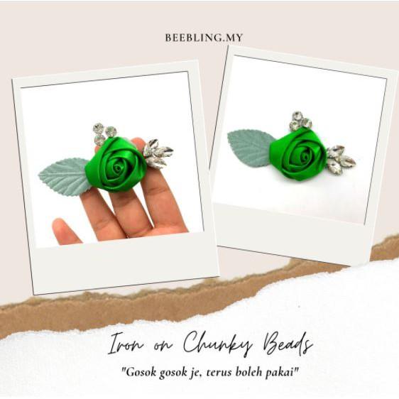 BeeBlinG Iron On Chunky Beads Mix Bunga 3D (D10) RM 3.40 / PCS