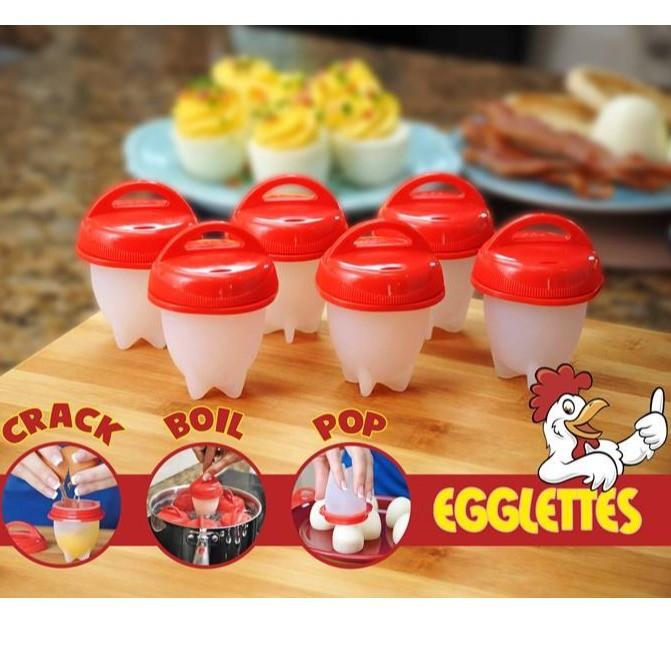 MALAYSIA: 1PC Silicone Egglettes Egg Cooker Hard Boiled Eggs Handy MIKROWAVE SELAMAT