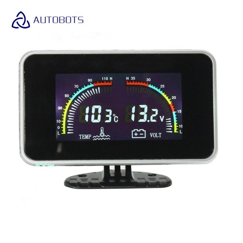4In1 Car Truck LCD Digital Display Voltmeter//Water Temp//Oil Pressure//Fuel Gauge