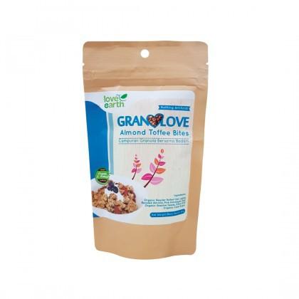 Love Earth Almond Toffee Bites Granolove 80g Granolove 巴旦木太妃格兰诺拉 80公克 (盒 装)