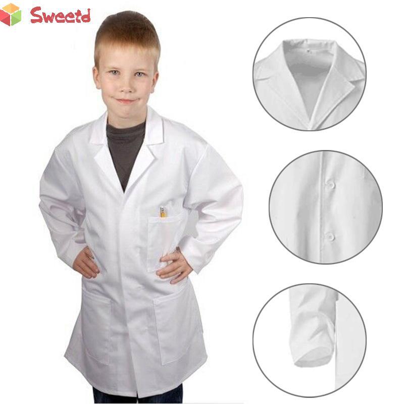 Lab Coat Unisex Child White Doctor Scientist Halloween Costume