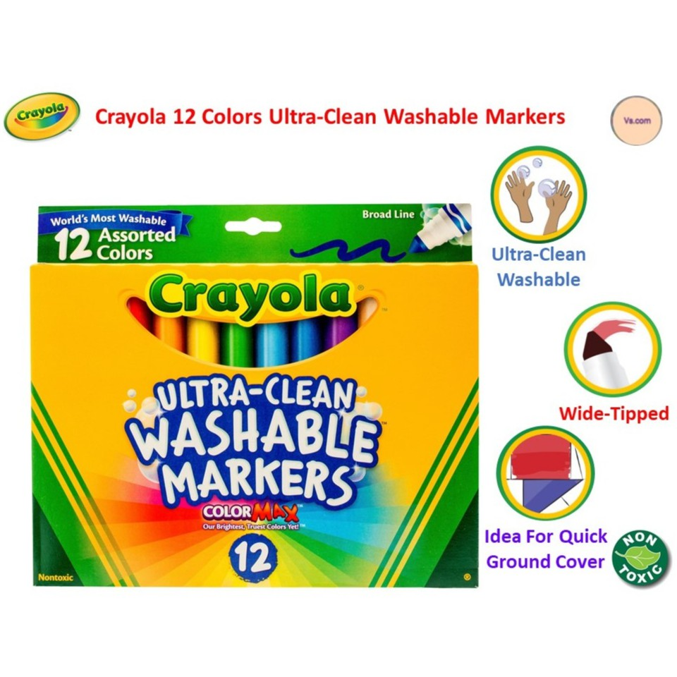 Crayola Ultra-clean Color Max Broad Line Washable Markers-bright Colors 10//pkg