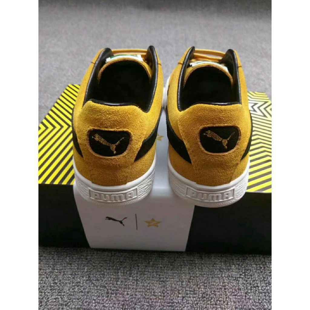 quality design 23977 08c41 Available original puma X QQ suede 50th yellow black skateboard sport shoe  for m