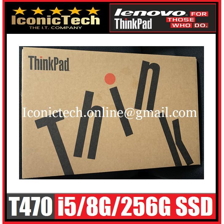 """IBM Lenovo Thinkpad T470 i5/8G/256GB-SSD/14"""" LCD/W10Pro"""
