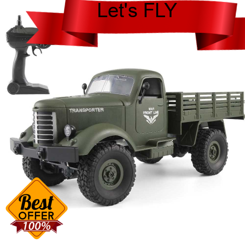 Great Discount JJR/C Q61D 1/16 2.4G 4WD RC Off-road Military Truck Transporter-2 Army Car DIY Toy (Gr)