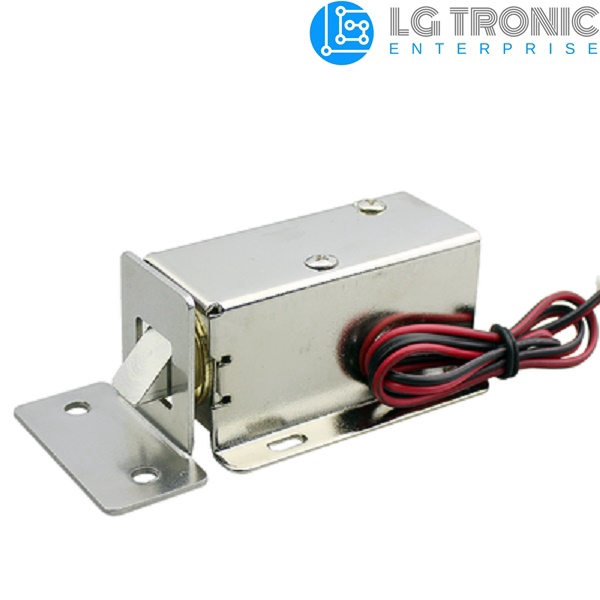 DC 12V Electric Solenoid Lock Tongue Assembly for Auto Door Cabinet Drawer