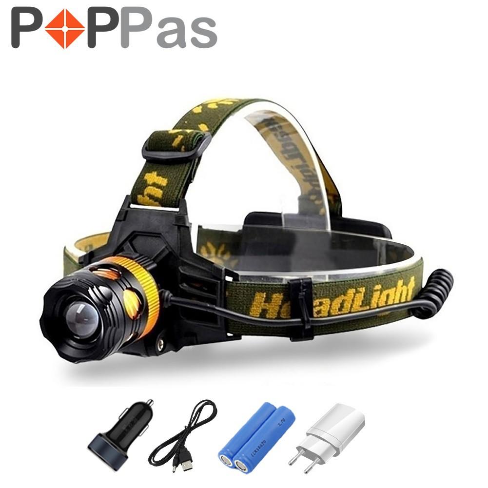Led Headlamp 5 Cree Xm L T6 Q5 Headlight 15000 Lumens Usb High Power 5000 Black Shopee Malaysia