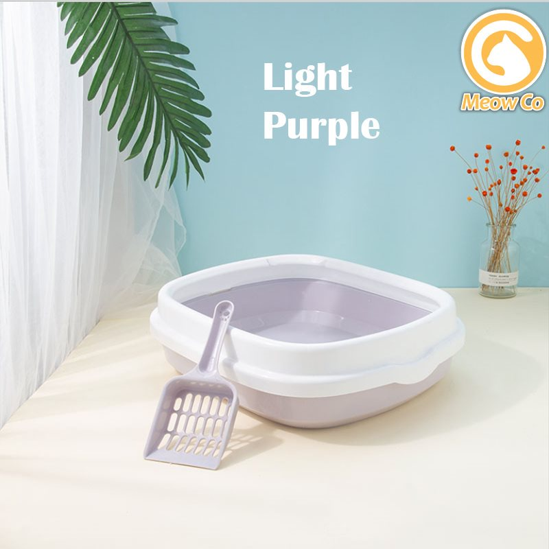 CAT LITTER BOX LARGE SIZE FULL COVERED PET LITTER BOX WITH SCOOP 【READY STOCK