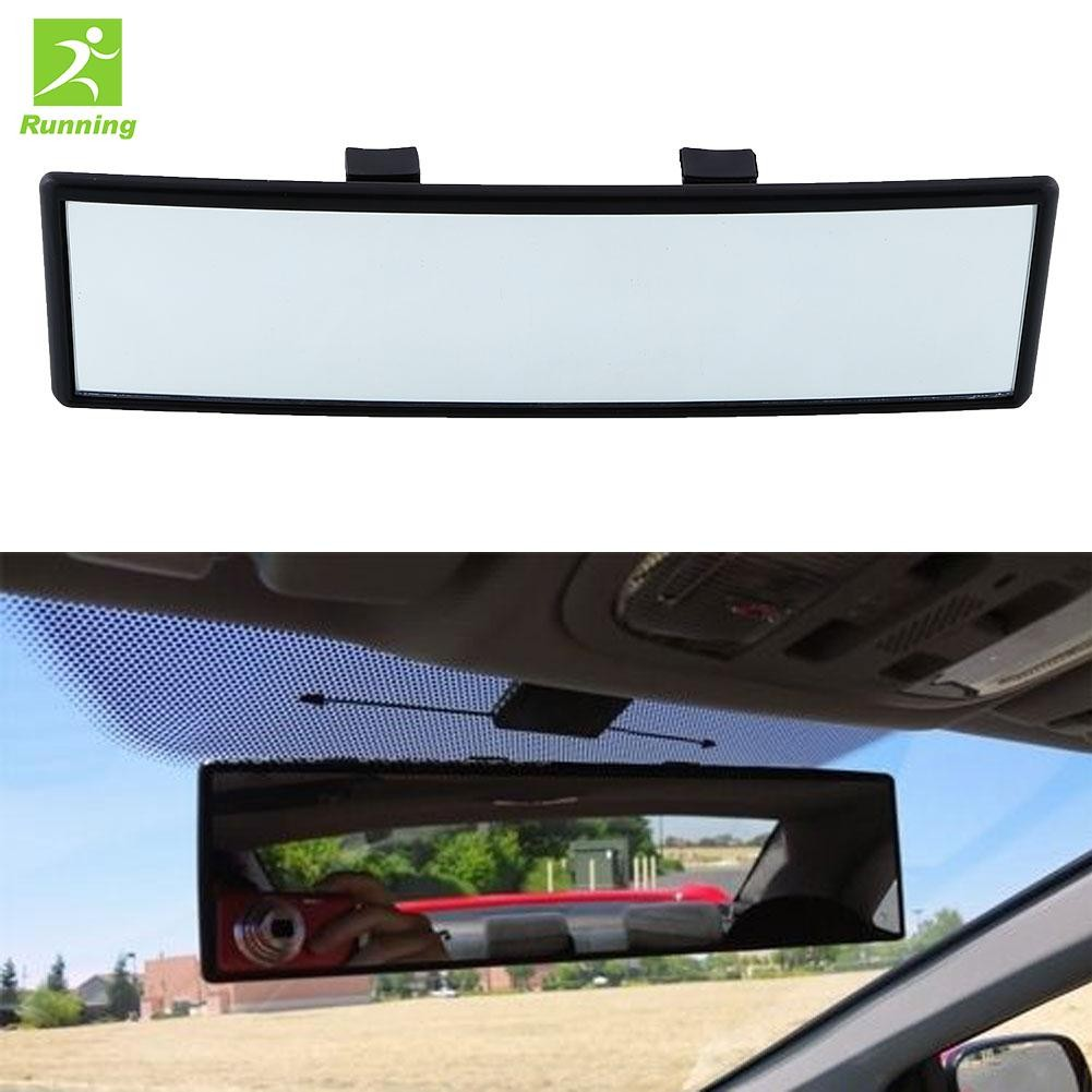 Broadway 270MM Wide Flat Interior Clip On Rear View Blue Tint Mirror Universal 1
