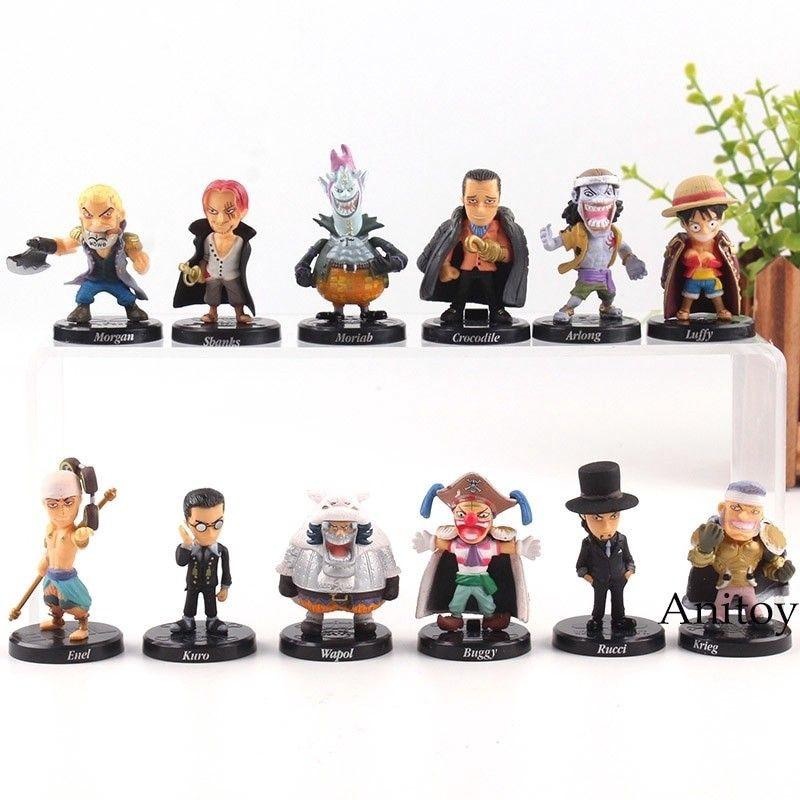 Cheap Sale! 12pcs One Piece Anime Action Figure 4cm