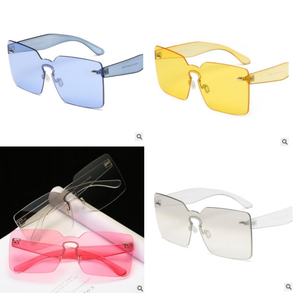 fa760b9e1b4d glasses tide transparent frameless 8 color fashion no brand