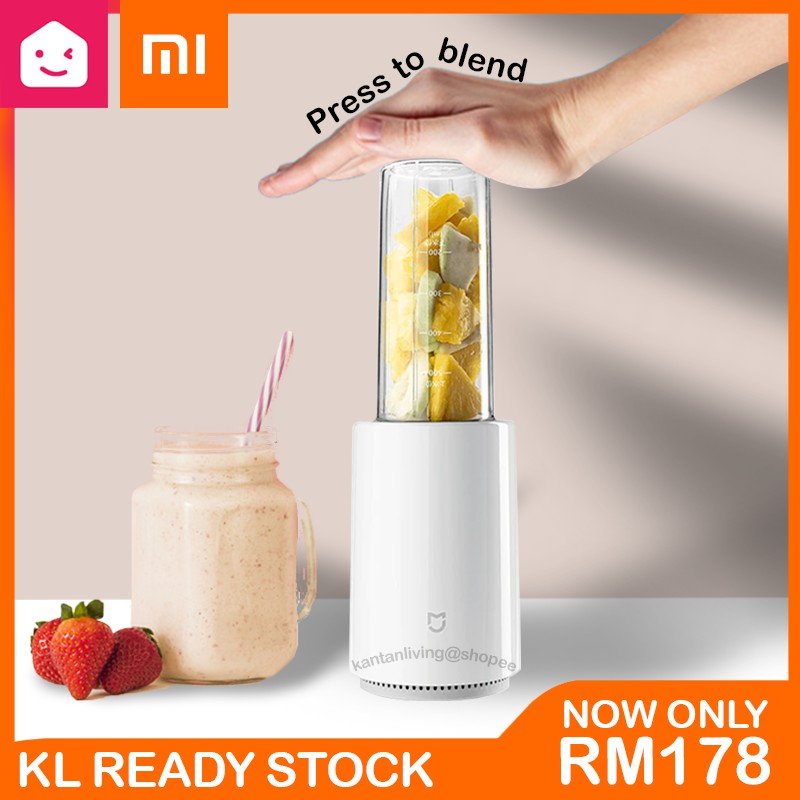Xiaomi Mijia Electric Kitchen Fruit Blender Multi-function Cordless Juice Cup Machine (White) MJLLJ01PL | KANTAN