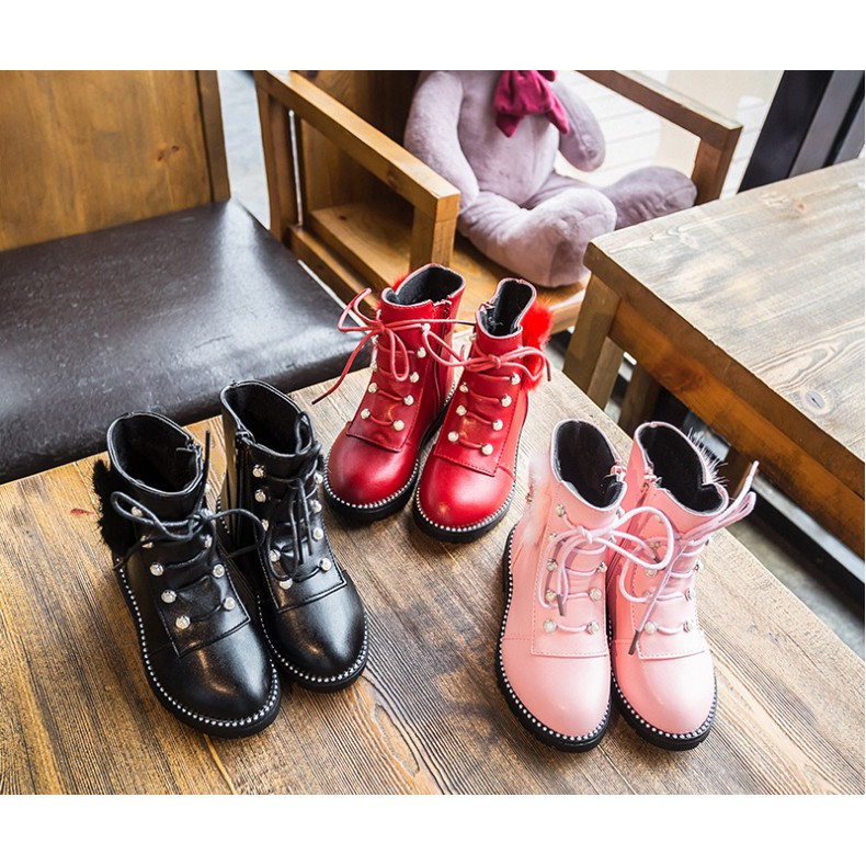 632a8a1d00 Winter Sweet Girls Princess Boots for Kids and Ankles Warm Boots Girl Martin