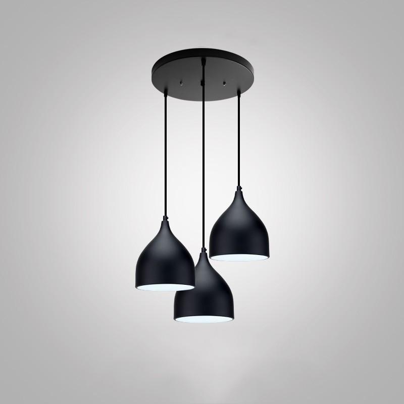 Set Of 3 Black Decorative Mini Hanging Lamp Led Modern Simple Ceiling Pendant Light Shopee Malaysia