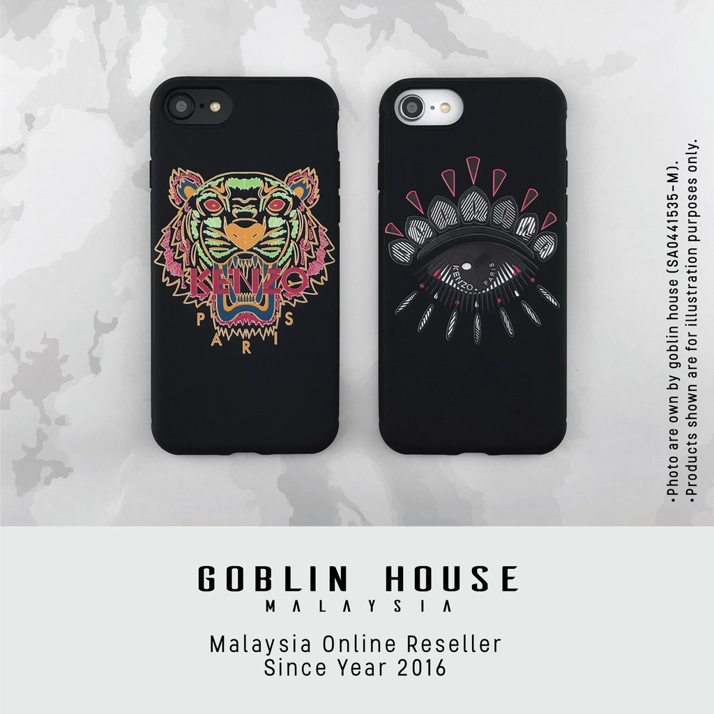 8c9e70ee Brand Kenzo Tiger Big Eyes Mobile Phone Case For iPhone X iPhone 6 6S 7Plus  | Shopee Malaysia