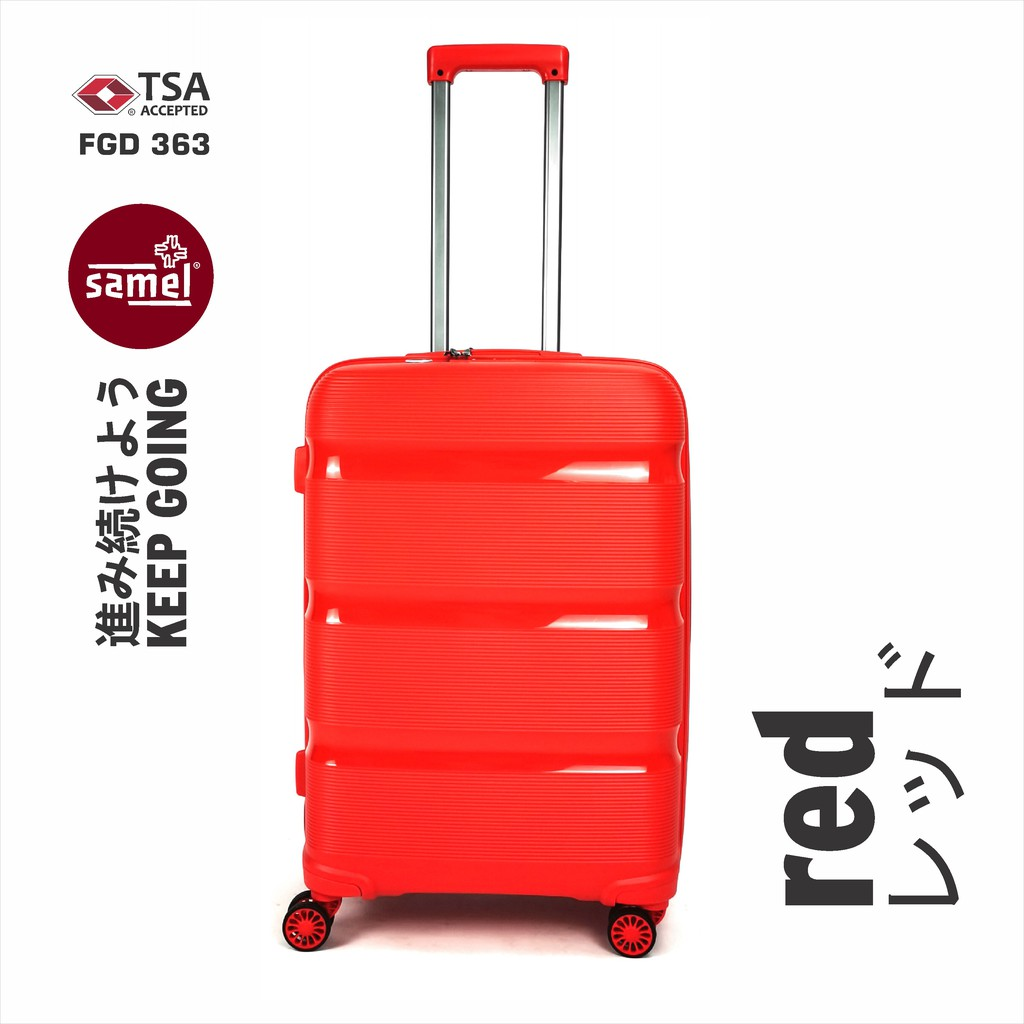 """3 IN 1 SET FGD 363 JAPANESES CONCEPT EXPANDABLE ANTI THEFT ZIPPER PP LUGGAGE 20"""" 24"""" 28"""""""
