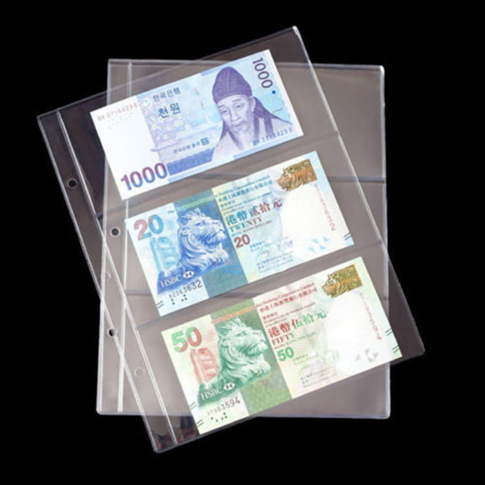 30 Notes Pages Paper Money Pocket Wallet Currency Banknote Collection Album