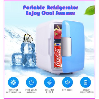 4lmini Car Fridge Freezer Cooler Warm 12v Portable Icebox Refrigerator