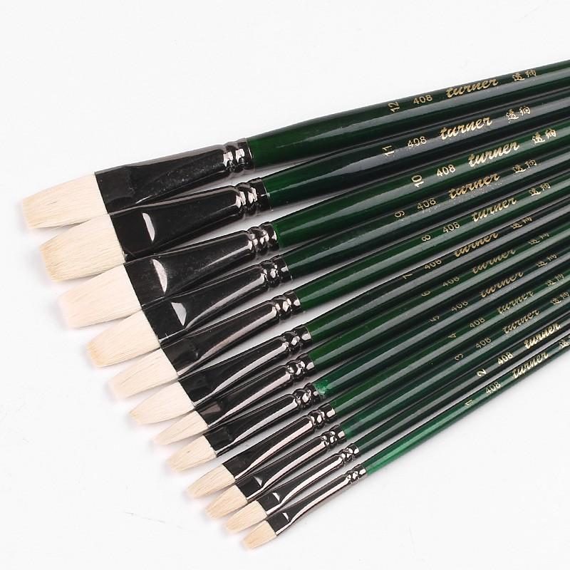 Turner watercolor pen water chalk wool watercolor brush shading brush flat  head