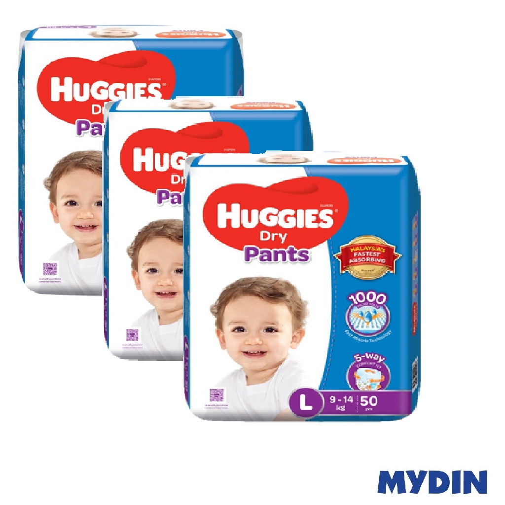 Huggies Dry Pants - L50 x 3 Packs (150's)