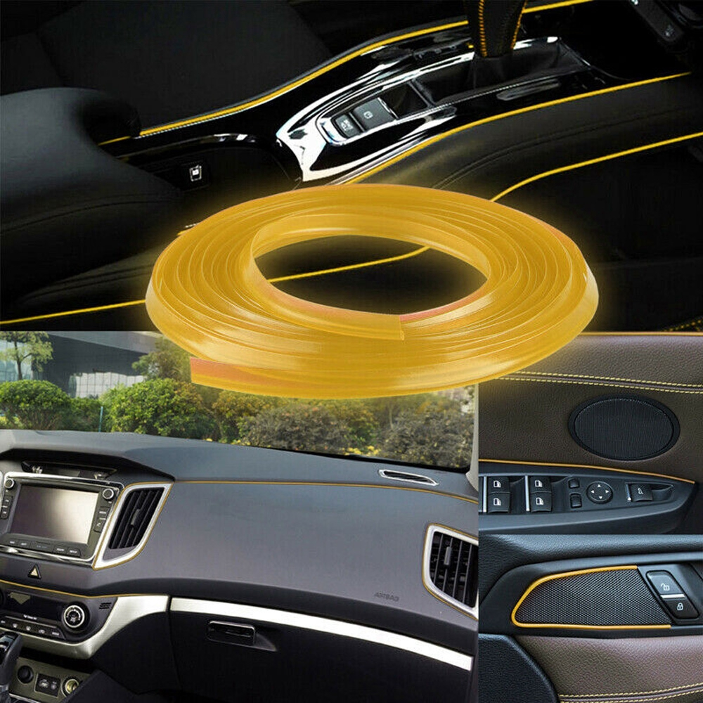 16.4ft Silver Universal Car Interior Edge Gap Molding Trim Strip Decorative Line