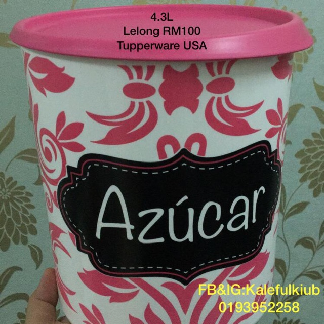 One Touch Tupperware 4.3L Azucar (Gula) Tupperware Limited from USA