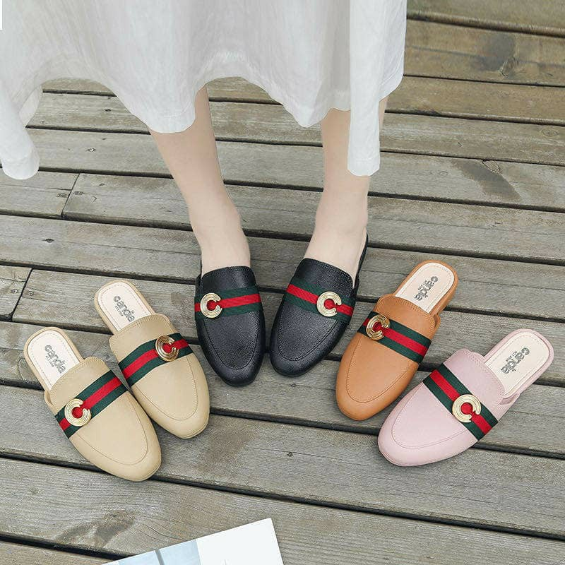 NEW Lady Korean Style Half Cover Flat / Loafer